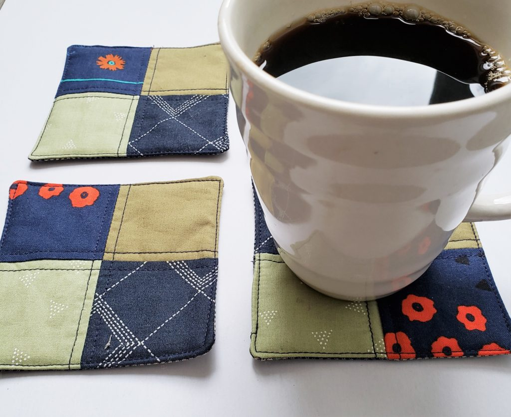 Simple DIY Four Patch Coasters